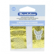Beadalon Needles for bead cord sizes up to 0.28mm Silver