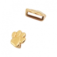 DQ European metal sliders animal paw Ø5.2x2.2mm Gold (nickel free)