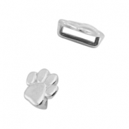 DQ European metal sliders animal paw Ø5.2x2.2mm Antique Silver (nickel free)