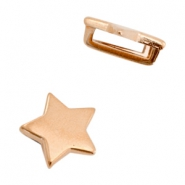 DQ European metal sliders star Ø10.2x2.2mm Rose Gold (nickel free)