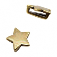 DQ European metal sliders star Ø10.2x2.2mm Antique Bronze (nickel free)