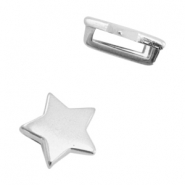 DQ European metal sliders star Ø10.2x2.2mm Antique Silver (nickel free)