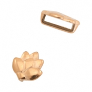 DQ European metal sliders lotus Ø10.2x2.2mm Rose Gold (nickel free)