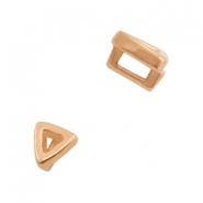 DQ European metal sliders triangle Ø3.2x1.8mm Rose Gold (nickel free)
