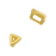 DQ European metal sliders triangle Ø3.2x1.8mm Gold (nickel free)