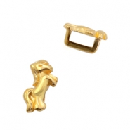 DQ European metal sliders horse Ø5.2x2.2mm Gold (nickel free)