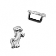 DQ European metal sliders horse Ø5.2x2.2mm Antique Silver (nickel free)