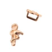DQ European metal sliders flamingo Ø5.2x2.2mm Rose Gold (nickel free)