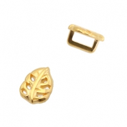 DQ European metal sliders leaf Ø5.2x2.2mm Gold (nickel free)