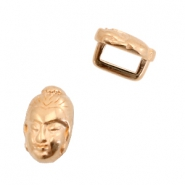 DQ European metal sliders Buddha Ø5.2x2.2mm Rose Gold (nickel free)