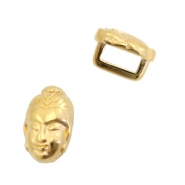 DQ European metal sliders Buddha Ø5.2x2.2mm Gold (nickel free)