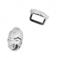 DQ European metal sliders Buddha Ø5.2x2.2mm Antique Silver (nickel free)