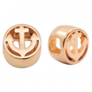 DQ European metal sliders anchor Ø4.8mm Rose Gold (nickel free)