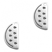DQ European metal charms watermelon Antique Silver (nickel free)