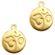 DQ European metal charms Ohm Gold (nickel free)