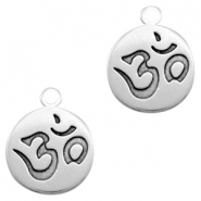 DQ European metal charms Ohm Antique Silver (nickel free)