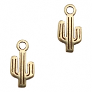 DQ European metal charms cactus Antique Bronze (nickel free)