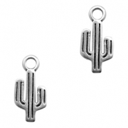 DQ European metal charms cactus Antique Silver (nickel free)