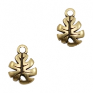 DQ European metal charms leaf Antique Bronze (nickel free)