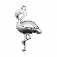DQ European metal charms flamingo Antique Silver (nickel free)