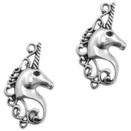 DQ European metal charms unicorn Antique Silver (nickel free)