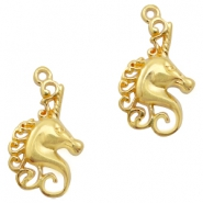 DQ European metal charms unicorn Gold (nickel free)