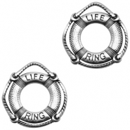 DQ European metal charms life ring Antique Silver (nickel free)