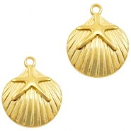DQ European metal charms shell with seastar Gold (nickel free)
