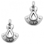 DQ European metal charms Antique Silver (nickel free)