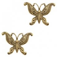 Charms TQ metal butterfly Antique Gold (Nickel Free)