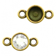 Findings TQ metal settings 2 loops for chaton SS39 Gold (Nickel Free)