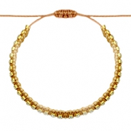 Ready-made Bracelets strass Golden Brown-Crystal