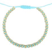 Ready-made Bracelets strass Light Turquoise Blue-Crystal