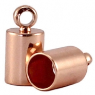 DQ end cap 3mm DQ Rose Gold durable plating