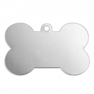 ImpressArt stamping blanks charms dog bone 41x22mm Alkeme Silver