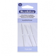 Beadalon Collapsible Eye Needles 6.4mm assorted Silver