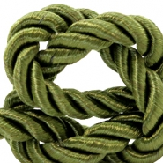 Trendy cord weave 10mm Olive green