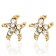 Trendy earrings studs seastar Gold