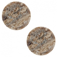 20m flat Polaris Elements cabochon stone look Anthracite-Brown