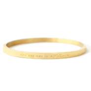 "Stainless steel bracelets ""YOU ARE ONE IN A MILLION"" Gold"