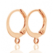 DQ earrings 12mm Rose gold plated