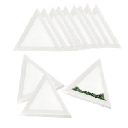 Jewellery display triangle bead trays White