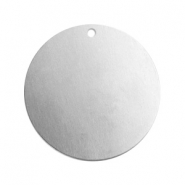 ImpressArt stamping blanks charms round 22mm Aluminum Silver