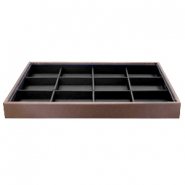 Jewellery display 12 compartments Brown-Black