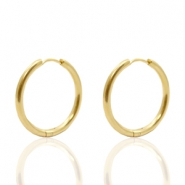 Stainless Steel earrings creole 20mm Gold