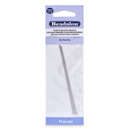 Beadalon Twisted Needle Asian Fine 10pcs Silver