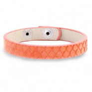 Ready-made bracelets snake Living Coral Red