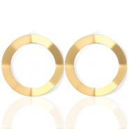 Trendy earrings open circle 41mm matt Gold (nickel free)