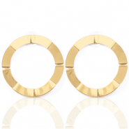 Trendy earrings open circle 41mm Gold (nickel free)