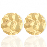 Trendy earrings circle 35mm Gold (nickel free)